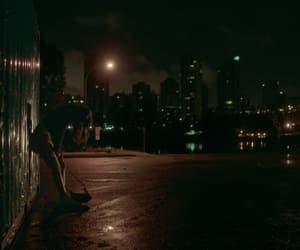 city, lights, and movie image
