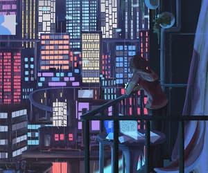 animation, city, and gif image