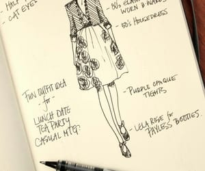 croqui, draw, and fashion image