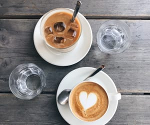 coffee, heart, and coffee art image