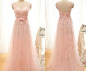 pink prom dresses, prom dresses lace, and 2019 prom dresses image