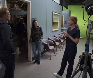 actors, camera, and behind the scene image