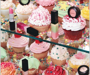 cupcake, mac, and makeup image
