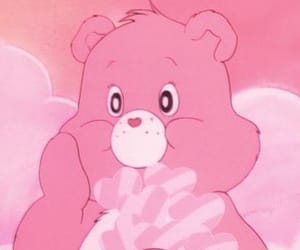 cartoon, pink, and care bears image