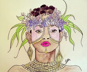art, drawing, and willow smith image