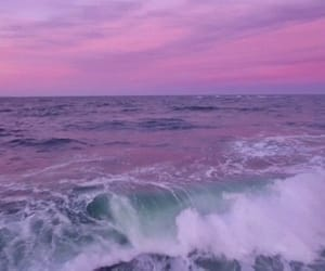 ocean, purple, and sky image