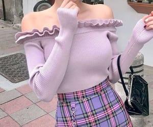 fashion, purple, and pastel purple image