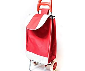 shopping trolley bag and red trolley bag image