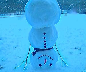 blue, snow, and snowman image