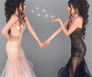 prom dress, prom dress black, and mermaid prom dress image