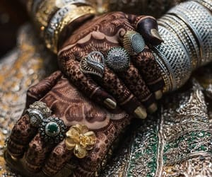 bridal, bride, and hands image