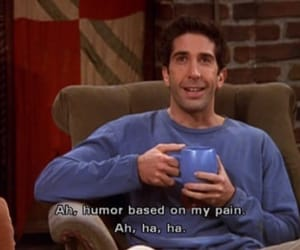 friends, pain, and ross image