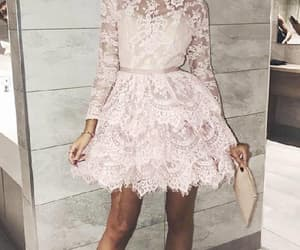 homecoming dresses, party dress a-line, and lace party dress image
