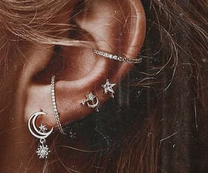 earrings, fashion, and moon image