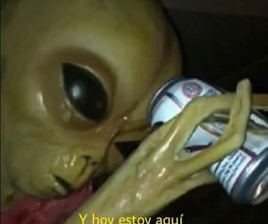 alcohol, alien, and frases image