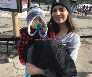 baby, snow, and nephew image