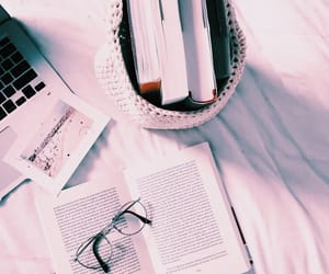 book, aesthetic, and laptop image