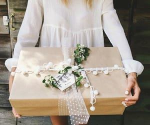 gift, gift wrapping, and wrapping image