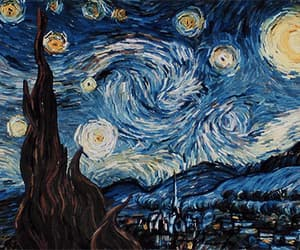 gif, starry night, and paint image