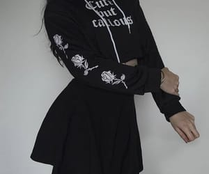 outfit, alternative, and black image