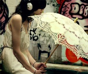 girl and umbrella image