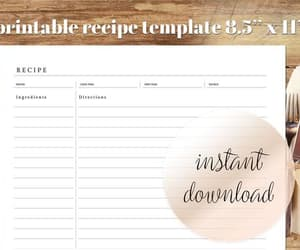 etsy, food journal, and recipe binder image