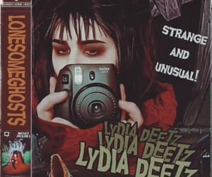 ghost, make up, and lydia deetz image