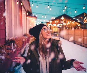 lights, photography, and snow image