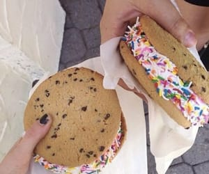 food, Cookies, and ice cream image