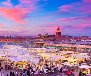 morocco, city, and marrakech image