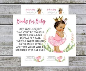 etsy, girl baby shower ideas, and baby shower inserts image