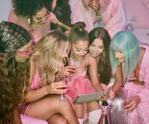 ariana grande, 7 rings, and pink image