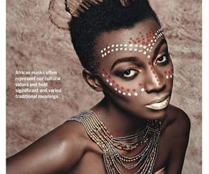 African, paint, and black image