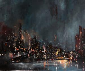 city, art, and lights image