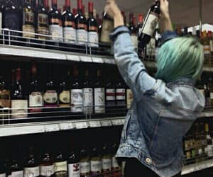 girl, grunge, and alcohol image