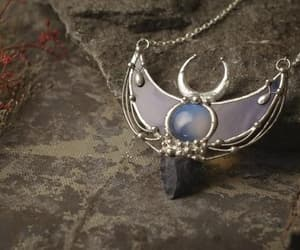 etsy, moon jewelry, and crescent pendant image