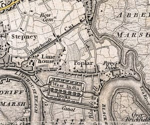 london, map, and old image