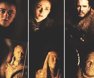 arya stark, game of thrones, and jon snow image