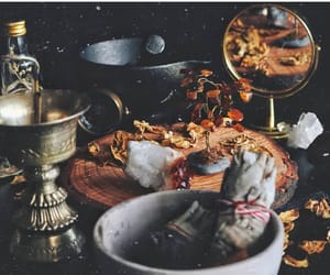 altar, herbs, and salt image