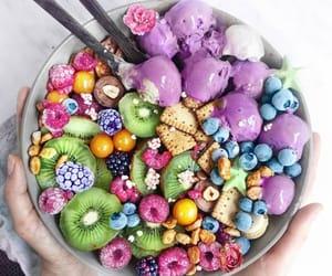 acai, food, and rainbow image