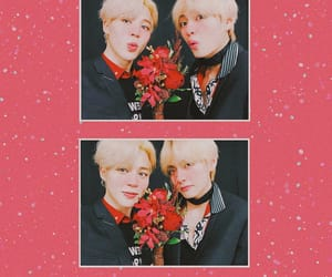 background, red, and park jimin image