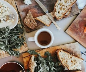 bread, brunch, and coffee image