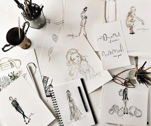 Brushes, draw, and Paper image