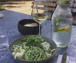 drink, food, and salad image