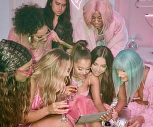 ariana grande, pink, and 7 rings image