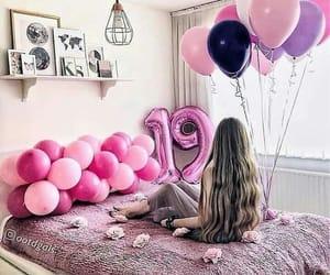 balloons, birthday, and happy birthday image