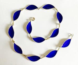 etsy, sterling silver, and cobalt blue enamel image