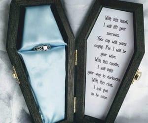 coffin, tim burton, and vows image