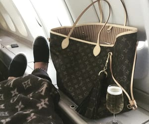 airplane, blanket, and champagne image
