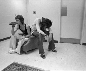 jagger, young, and rolling stones image
